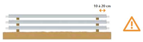Stockage des poutrelles en béton KP1